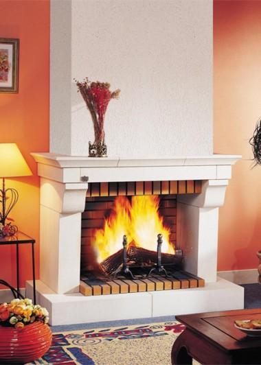chemin e de face en pierre blanche richemont seguin duteriez. Black Bedroom Furniture Sets. Home Design Ideas